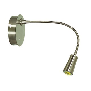 Access Lighting Epiphanie LED Brushed Steel Gooseneck Wall Lamp