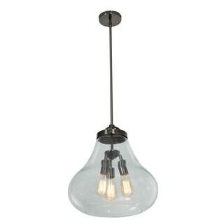 Access Lighting Flux 3-light Antique Nickel Pendant