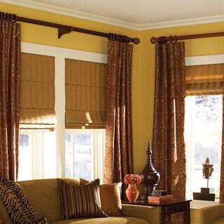Ashton Camel Stripe Roman Shade 34 to 34.5-inch Wide