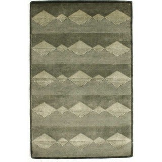 Hand-knotted with Modern Designs Area Rug  (4' x 6')