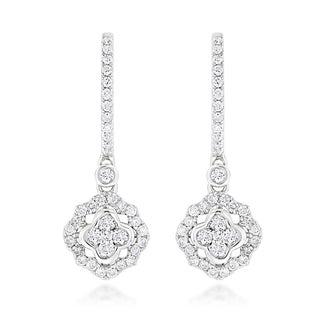 Luxurman 14k Gold 1ct TDW Diamond Drop Earrings (G-H, SI1-SI2)