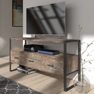 Swanson Rustic Reclaimed Wood 3-drawer TV Stand