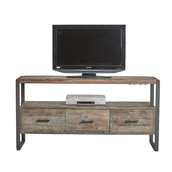 swanson rustic reclaimed wood 3drawer tv stand