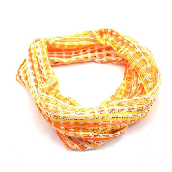 Handmade San Antonio Infinity Open Weave Scarf - Sunshine (Guatemala)