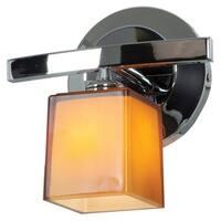 Access Lighting Sydney 1-light Chrome Hermes Glass Vanity with Amber Shade