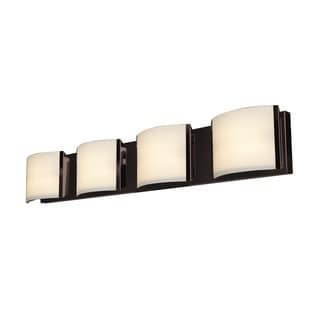 Access Lighting Nitro 2 4-light Bronze Vanity with Opal Shade