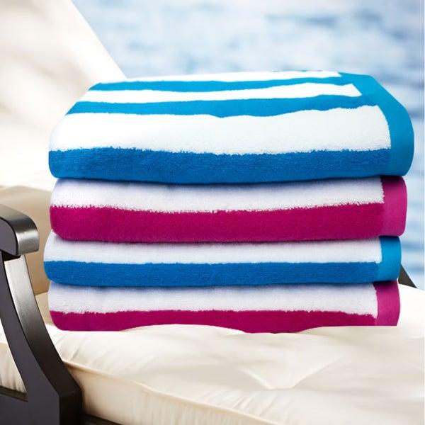 100-percent Cotton Havana Stripe Beach Towels (30 x 60)