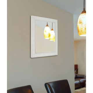 American Made Rayne Vintage White Vanity Wall Mirror