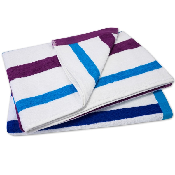 100-percent Cotton Calypso Stripe Beach Towels (30 x 60)