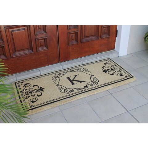 First Impression Hayley Monogrammed Entry Double Doormat (2' x 4'9)