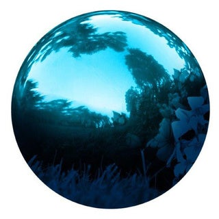 Gazing Mirror Ball - Stainless Steel - By Trademark Innovations
