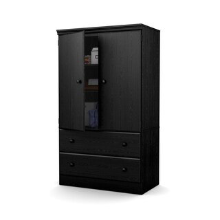 """South Shore Morgan Two Door Armoire with Drawers - 35.4""""l x 19.5""""d x 60.8""""h"""