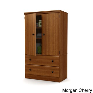 South Shore Morgan Two Door Armoire with Drawers (5 options available)
