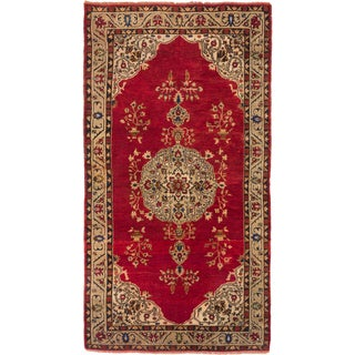 ecarpetgallery Hand-knotted Konya Anatolian Red Wool Rug (5'0 x 9'4)
