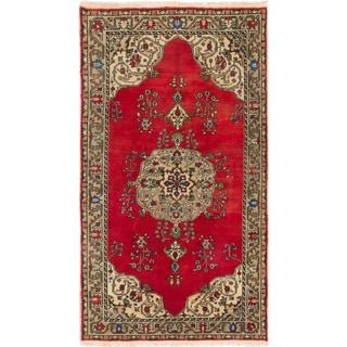 ecarpetgallery Hand-knotted Konya Anatolian Red Wool Rug (5'4 x 9'5)
