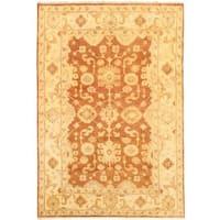ecarpetgallery Hand-knotted Royal Ushak Brown Wool Rug - 6'3 x 9'
