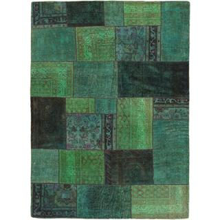 ecarpetgallery Hand-knotted Color Transition Green Wool Rug (6'2 x 8'6)