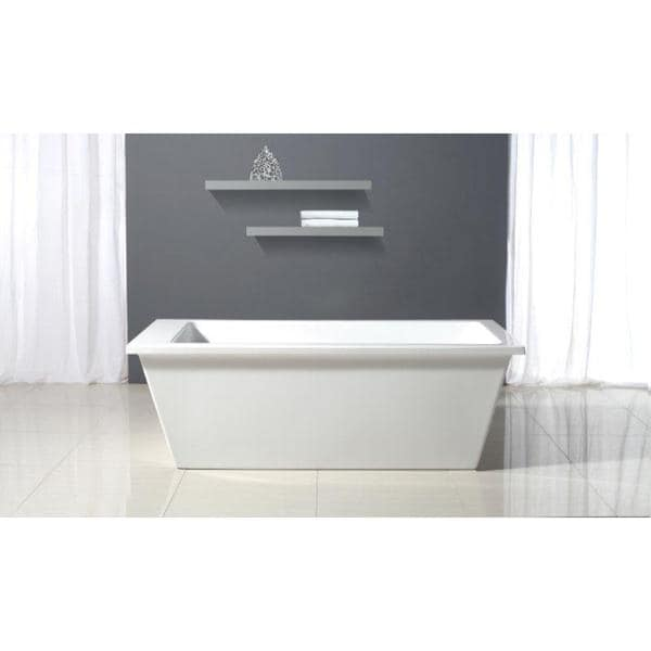 Shop Ove Decors Houston Freestanding Bathtub Free