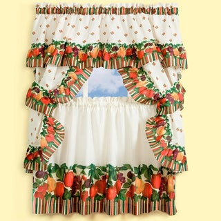 Tuttie Fruitie Printed Tailored Cottage Curtain Tier Set