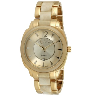 Peugeot Women's Goldtone Ivory Tortoise Shell Watch