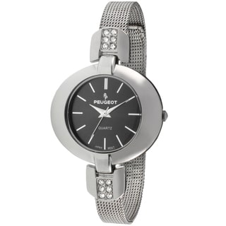 Peugeot Women's Stainless Steel Crystal Accented Watch