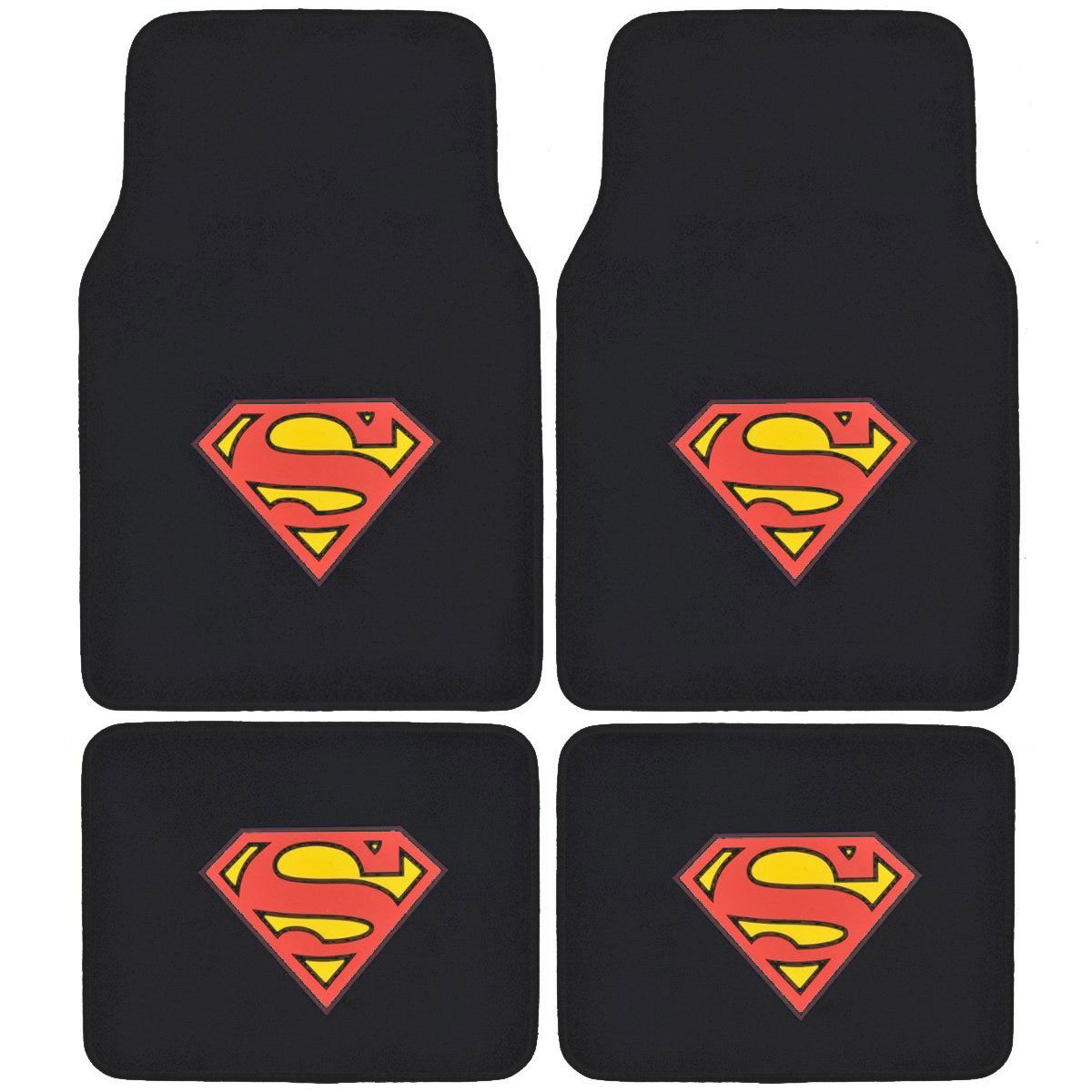 Batman or Superman Vehicle Floor Mats (Set of 4) (Superma...