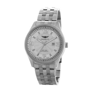 Gianello Men's Stainless Steel Silvertone 5 Link Bracelet Watch