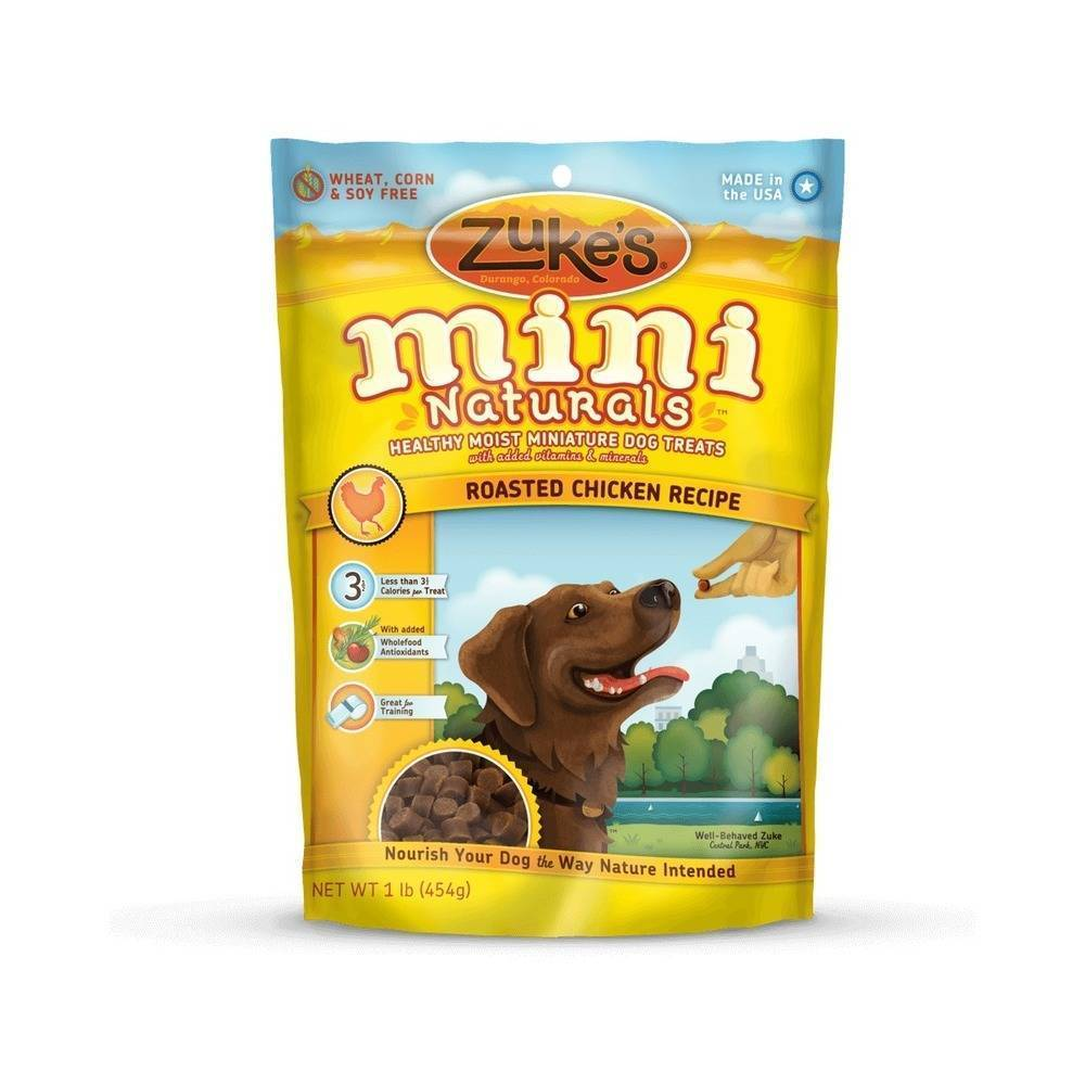 Zuke's Mini Naturals Moist Miniature Treat for Dogs (Pean...