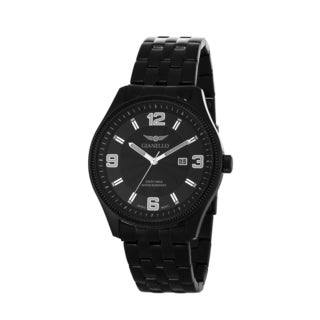 Gianello Men's Black Stainless Steel Black 5 Link Bracelet Watch