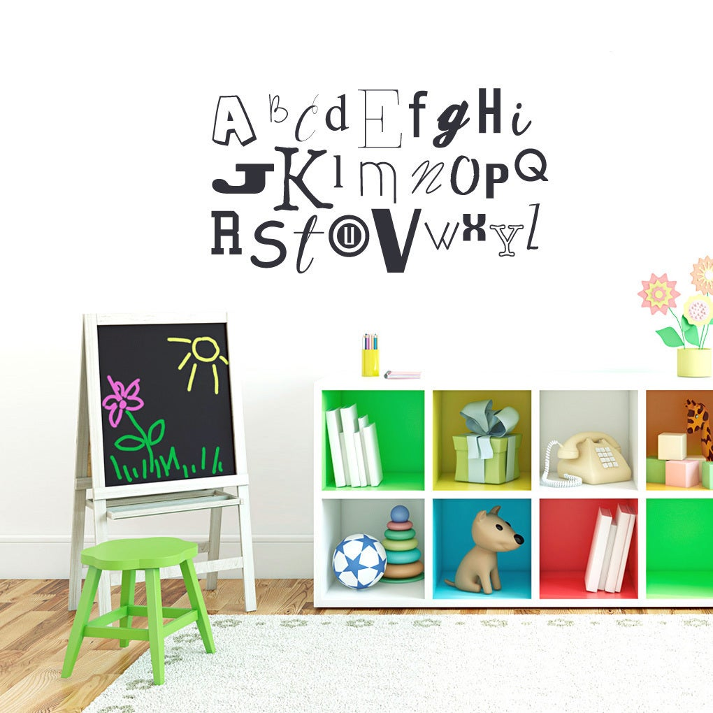 Sweetums Alphabet Kid's 40-inch Wide Wall Decal (HOT Pink...