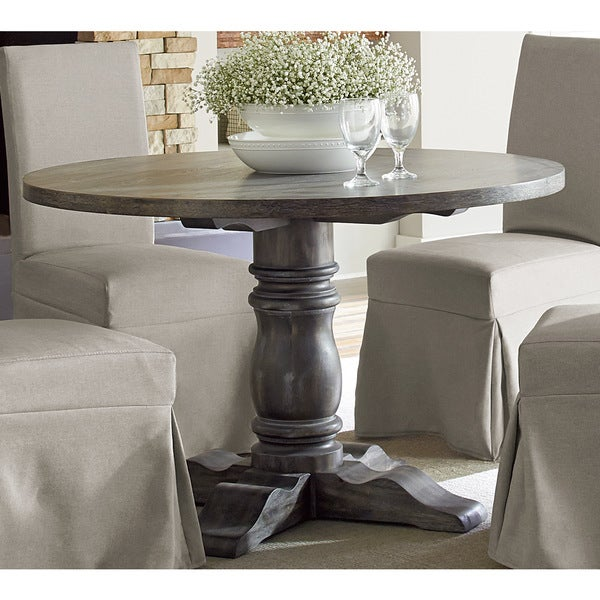 Round Dining Room Tables For 12: Muses Weathered Pepper Finish Round Dining Table