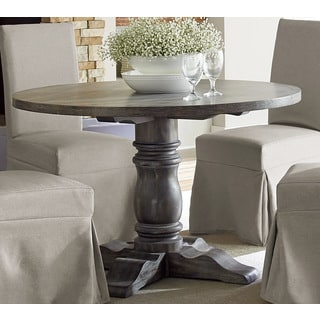 Muses Weathered Pepper Finish Round Dining Table - Grey
