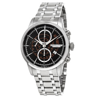 Link to Hamilton Men's H40656131 American Classic' Black Dial Stainless Steel Railroad Chronograph Swiss Aut Similar Items in Men's Watches