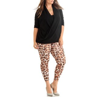 Dinamit Jeans Plus Size Ankle Length Cheetah Leggings