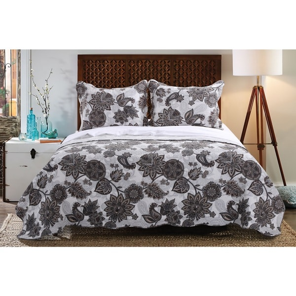 Greenland Home Fashions  Jacobean Paisley 3-piece Quilt Set
