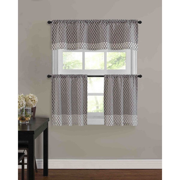 Shop Baroque Kitchen Tier Window Treatment (3 Piece Set