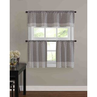 Baroque Kitchen Tier Window Treatment (3 Piece Set)