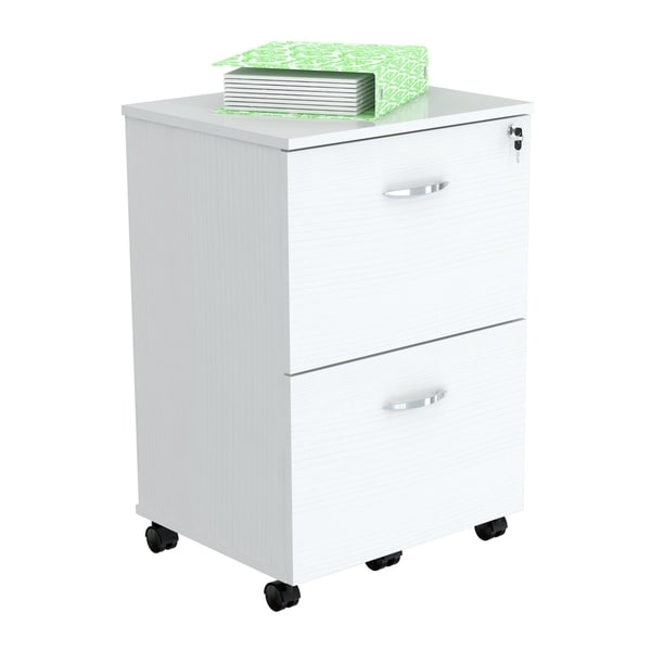 Inval Laricina-White Mobile File Cabinet - Free Shipping Today ...