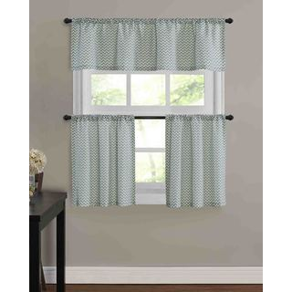 Mini Chevron Kitchen Tier Window Treatment (3 Piece Set)