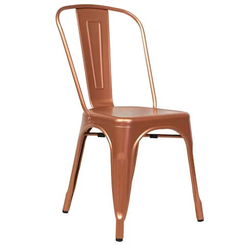 Industrial Copper Side Chair