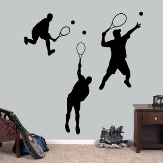 Tennis Guys Large Wall Decals Set