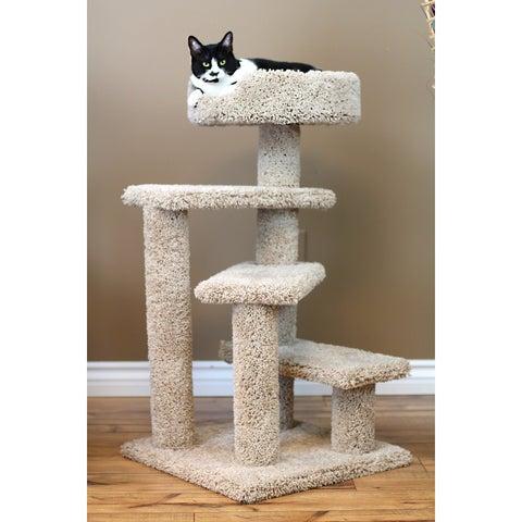New Cat Condos Carpet/Wood 36-inch Spiral Cat Tree