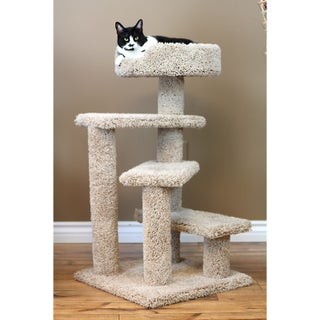 New Cat Condos Carpet/Wood 36-inch Spiral Cat Tree