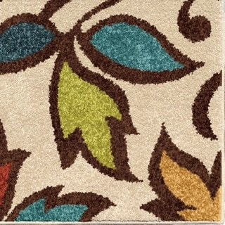 Carolina Weavers Indoor/Outdoor Santa Barbara Collection Divan Ivory Area Rug (6'5 x 9'8)