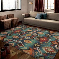 Carolina Weavers Brighton Collection Monaco Multi Area Rug - 6'7 x 9'8