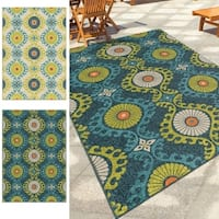 Carolina Weavers Indoor/Outdoor Santa Barbara Collection Fergana Multi Area Rug (7'8 x 10'10) - 7'8 x 10'10
