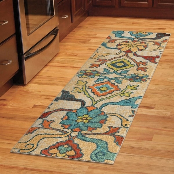 Carolina Weavers Brighton Collection Dharan Multi Runner Rug