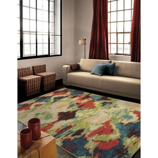 Carolina Weavers Bright Color Fingerpainted Diamonds Multi Area Rug (6'7 x 9'8)