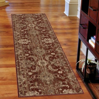 Carolina Weavers Unique Scroll Walton Burnt Red Runner (2'3 x 8')