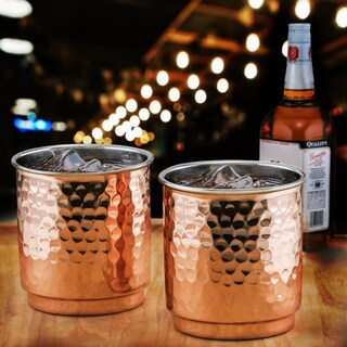 Hamm Straight Sided Copper & Stainless Whiskey Tumbler (Set of 2)